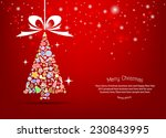 vector christmas tree icon.... | Shutterstock .eps vector #230843995