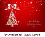 vector christmas tree icon.... | Shutterstock .eps vector #230843995