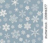 Seamless  Pattern Of Snowflake...