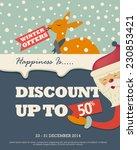 christmas winter sale | Shutterstock .eps vector #230853421