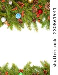 christmas background with balls ... | Shutterstock . vector #230861941