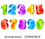 collection of 10 colorful three ... | Shutterstock .eps vector #230863819