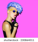 disco punk fashion style club... | Shutterstock . vector #230864011