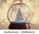 snow globe with christmas tree. ... | Shutterstock . vector #230866621