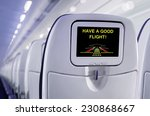 passenger seat of plane with... | Shutterstock . vector #230868667
