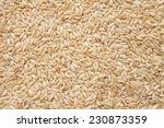 integral uncooked brown rice... | Shutterstock . vector #230873359