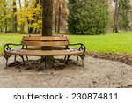 Autumn In Maksimir Park  Bench...