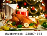 Christmas Turkey Dinner Served...