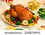 christmas turkey dinner    Shutterstock . vector #230874901