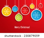 Hanging Christmas Balls. Vecto...