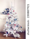 decorated christmas tree in... | Shutterstock . vector #230887921