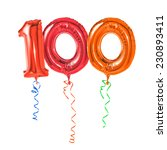 red balloons with ribbon  ...   Shutterstock . vector #230893411
