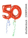 red balloons with ribbon  ... | Shutterstock . vector #230893444