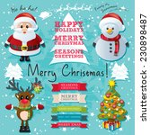 christmas text and characters...   Shutterstock .eps vector #230898487