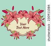 invitation border with lilies... | Shutterstock .eps vector #230911084