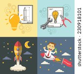 start up vector flat... | Shutterstock .eps vector #230918101