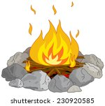 Illustration Of Flame Into Fir...
