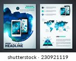 set of vector poster templates... | Shutterstock .eps vector #230921119