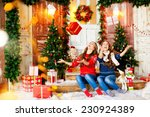 two sisters twins playing in... | Shutterstock . vector #230924389