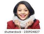 beautiful woman with happy... | Shutterstock . vector #230924827