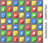 set of plain white icons with...