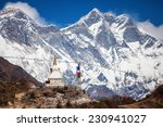 Small photo of Beautiful landscape of Himalayas mountains