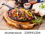 beef fajitas with colorful bell ... | Shutterstock . vector #230941204