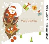 flying santa and reindeer | Shutterstock .eps vector #230945539