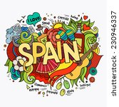 spain hand lettering and... | Shutterstock .eps vector #230946337