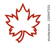 maple leaf vector icon | Shutterstock .eps vector #230947531