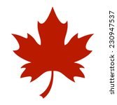 Stylized Autumn Maple Leaf...