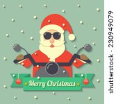 santa claus wearing sunglasses... | Shutterstock .eps vector #230949079
