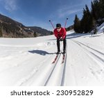 cross country skiing  close up. | Shutterstock . vector #230952829