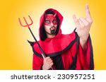 Man Devil In Red Costume