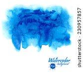 blue watercolor vector...   Shutterstock .eps vector #230957857