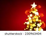 Christmas Tree Lights On Red...