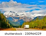 road to mount robson at summer. ... | Shutterstock . vector #230964229