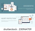medical flat vector background... | Shutterstock .eps vector #230964709