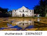 The Historic Alamo At Twilight...