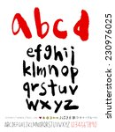 alphabet and numbers   hand... | Shutterstock .eps vector #230976025