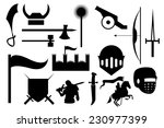 knight icons set   Shutterstock .eps vector #230977399