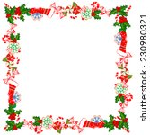 christmas frame with holly... | Shutterstock .eps vector #230980321