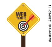 yellow street sign with web... | Shutterstock . vector #230980441