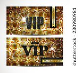 vip gold cards with the disco... | Shutterstock .eps vector #230980981