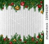 christmas card   Shutterstock . vector #230981029