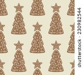 seamless pattern with christmas ... | Shutterstock .eps vector #230982544
