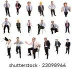 mature businessman in different ... | Shutterstock . vector #23098966