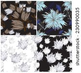 vector seamless floral  | Shutterstock .eps vector #230990035