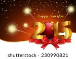 happy new year 2015 celebration ... | Shutterstock . vector #230990821