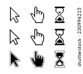 pixel cursors icons   mouse... | Shutterstock . vector #230996215